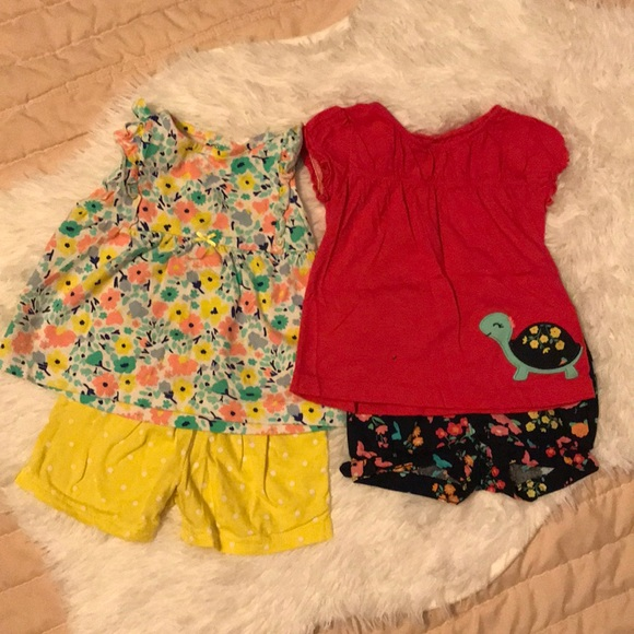 Child Of Mine Matching Sets Two Like New Spring Sets For Baby Girl